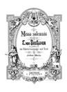 Missa solemnis (Vocal score)