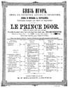 Prince Igor (Vocal score)