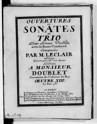Ouvertures et Sonates en Trio