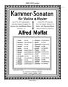 Sonate No.5 en La majeur