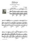 """Méditation dall'Opera"""" THAIS"""" Trascrizione per Violino e Pianoforte"""