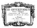 """Corrette, Michel: Offertoire """"La Saint-François"""""""