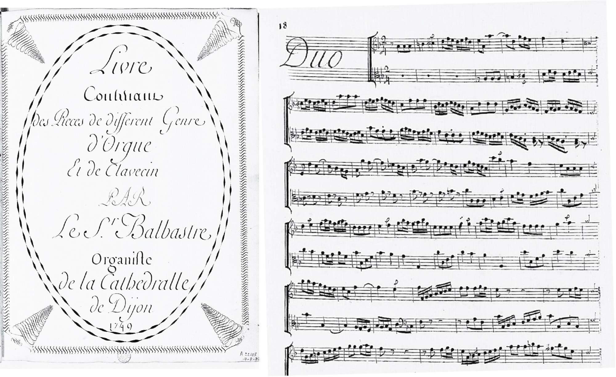 Balbastre, Claude: Duo pour Orgue