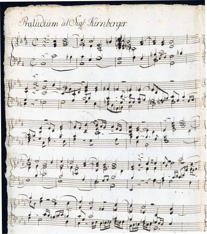"""Kirnberger, Johann: """"Praeludium del Signor Kirnberger"""""""