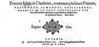 "Anonymous: ""Pavane Ferrareze"" Organ manualiter transcription"