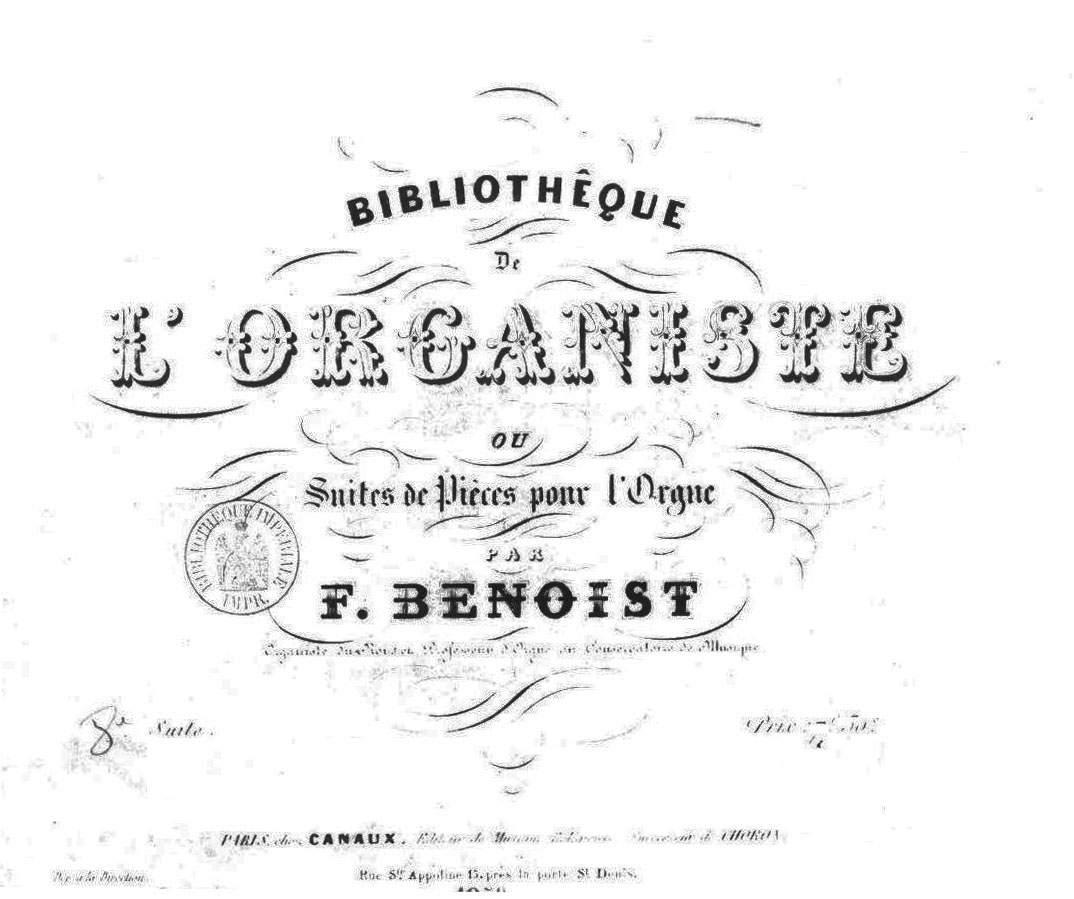 MACHELLA, MAURIZIO: François Benoist (1794-1878) Rentrée de procession (from Suite n.8)
