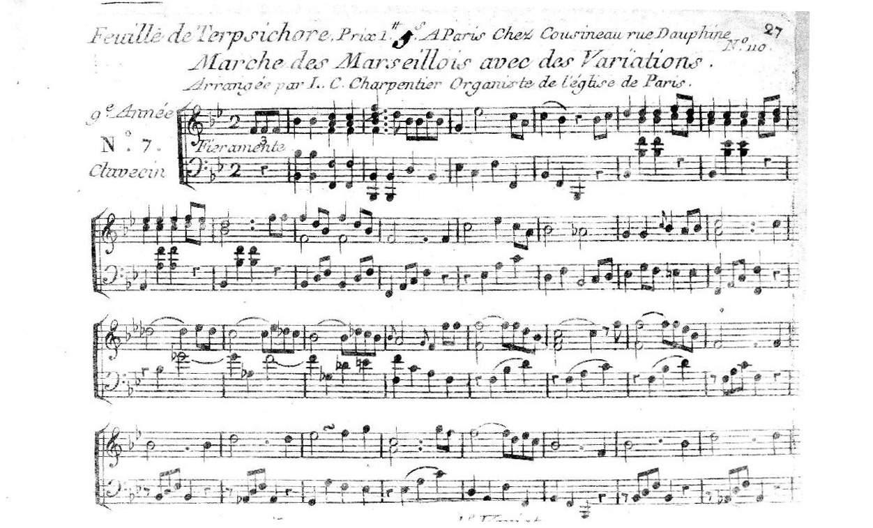 Beauvarlet Charpentier, Jean-Jacques: Marche des Marseillois avec Variations