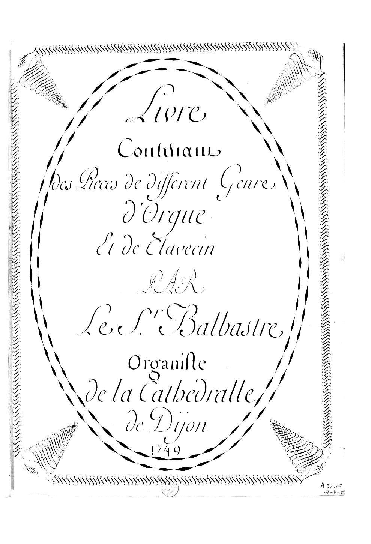Balbastre, Claude: Allegro