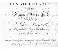 "Bennett, John: Voluntary n.2 n B minor from ""Ten Voluntaries for the Organ or Harpsichord"""