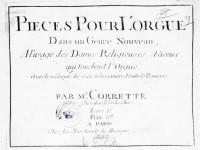 Corrette, Michel: (Pièce pour l' Orgue)