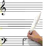 Blank sheet music: 2 x 5 Portées vierges (petit ensemble)