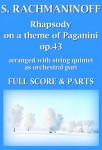 Rachmaninoff, Sergei: Rhapsodie sur un thème de Paganini