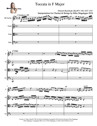 Toccata in F Major for Clarinet & Strings