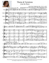 """""""Theme & Variations"""" from """"Six Pieces"""" for Flute & Strings"""