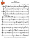 Kyrie from Trio en Dialogue for Double-Reed Quartet