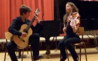 Bach, Johann Sebastian: Gavotte & Rondeau from the Overture Suite in G Minor for Viola & Guitar