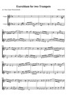 Exercitium for two Trumpets