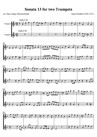 Sonata 13 for two Trumpets