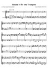 Sonata 16 for two Trumpets