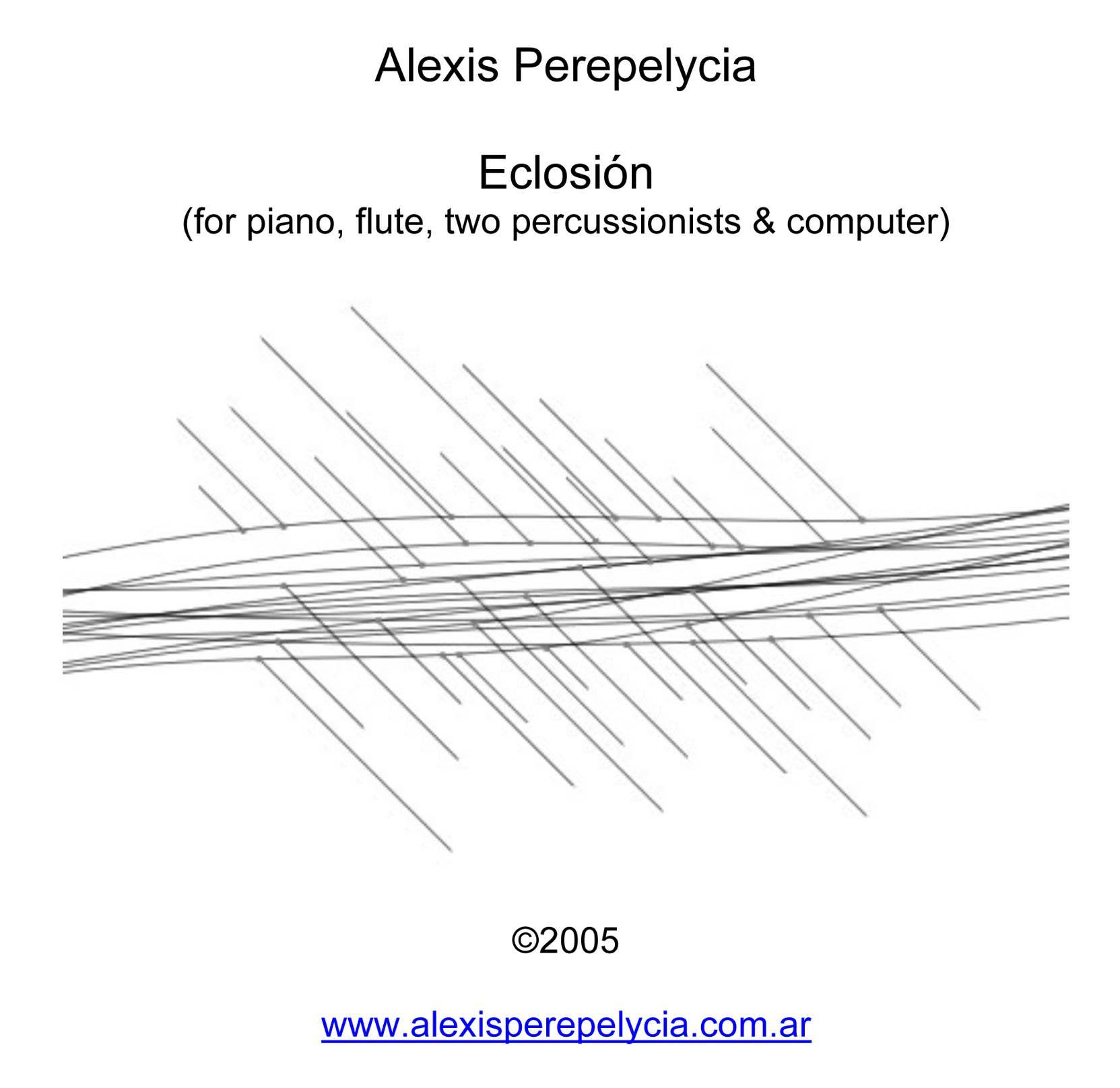 Alexis Perepelycia: Eclosion