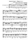 Sonata G major - Allegro