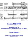 INTRODUCTION A LA PHENOMENOLOGIE DU QUATUOR A CORDES (Compendium)