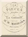 Matiegka, Wenzel Thomas: Theme and Variations